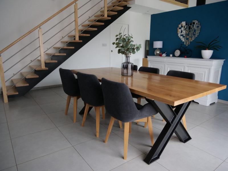 Normant Agencement : Finistère 29 : MENUISERIE INTÉRIEURE TABLE BOIS METALDRESSING – PARQUET – TERRASSE- MERBEAU-PISCINE-JARDIN-PERGOLA-MOBILIER-CUISINE EXTERIEUR